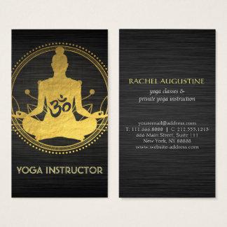 Symbole élégant de l'OM de pose de méditation de Cartes De Visite