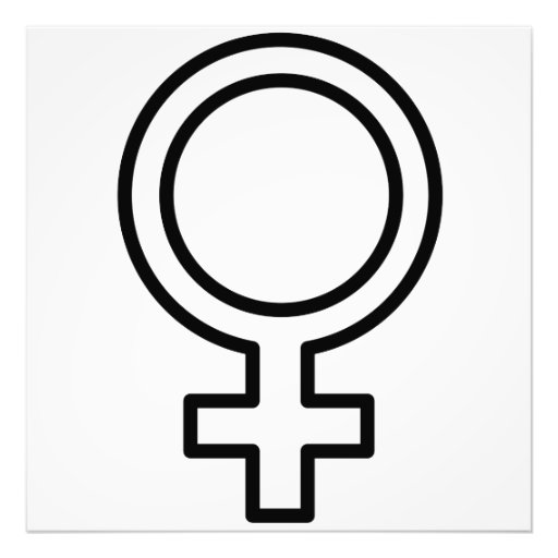 Symbole femelle photographies d'art
