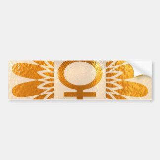 Symbole femelle d'icône : Énergie d'or de Autocollant Pour Voiture