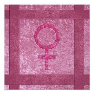 Symbole femelle rose photos sur toile