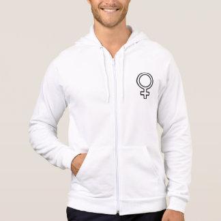 Symbole femelle veste à capuche