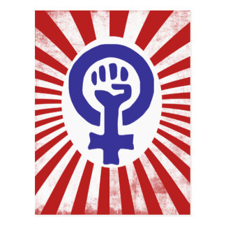 Symbole féministe cartes postales