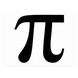 "Symbole géant de ""pi"" cartes postales"