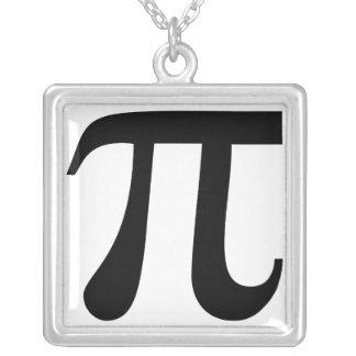 """Symbole géant de """"pi"""" pendentif carré"""