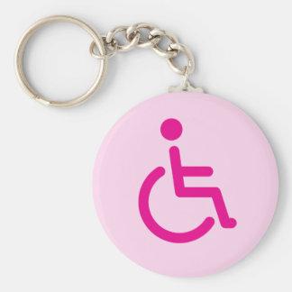 Symbole handicapé porte-clés