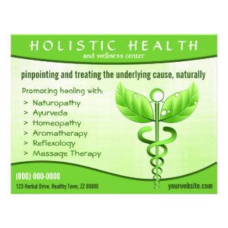 """Symbole holistique 8,5"""" de caducée de santé x 11"""" prospectus 21,6 cm x 24,94 cm"""