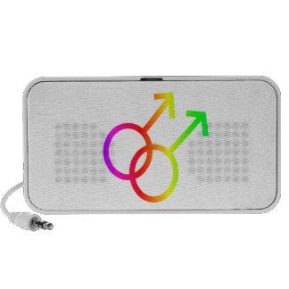 Symbole homosexuel masculin d'arc-en-ciel haut-parleurs iPod