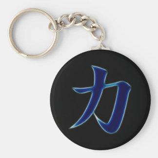 Symbole japonais de kanji de force porte-clé
