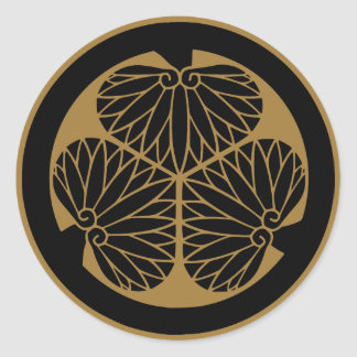 Symbole japonais de la crête KAMON de famille Sticker Rond