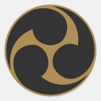 Symbole japonais de la crête KAMON de famille Autocollants