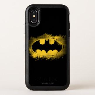 Symbole logo noir et jaune de | de Batman