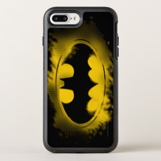 Symbole logo noir et jaune de | de Batman Coque OtterBox Symmetry iPhone 8 Plus/7 Plus