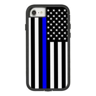 Symbole mince de Blue Line de drapeau américain Coque Case-Mate Tough Extreme iPhone 7