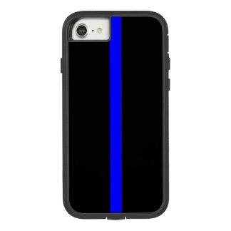 Symbole mince de Blue Line dessus Coque Case-Mate Tough Extreme iPhone 7