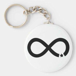Symbole noir d'infini avec l'étoile porte-clés