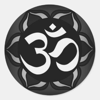 Symbole noir et blanc de l'OM de paix Autocollants
