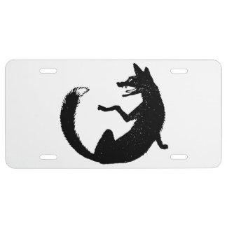 Symbole noir et blanc d'emblème de Fox