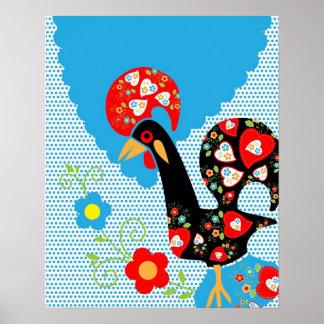 Symbole portugais de coq posters
