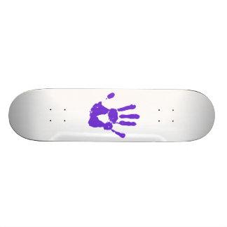 Symbole pourpre de droits des homosexuels de la skateboard