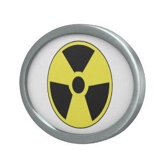Symbole radioactif boucle de ceinture ovale