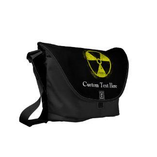 Symbole radioactif grunge sacoche