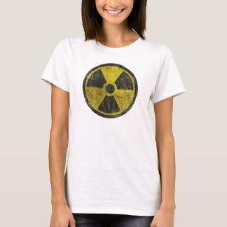 Symbole radioactif grunge t-shirt