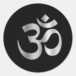 Symbole religieux d'hindouisme Pranava Sticker Rond