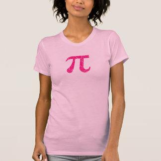 Symbole rose rayé et âgé de maths de pi t-shirt