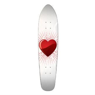 Symbole rouge de coeur d'amour skateboard 21,6 cm