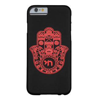 Symbole rouge de Hamsa Coque iPhone 6 Barely There