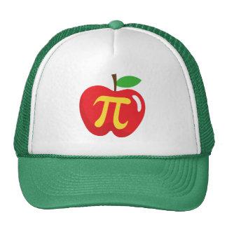 Symbole rouge de la tarte aux pommes pi casquettes