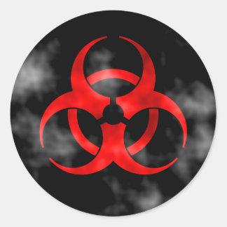 Symbole rouge de tabagisme de Biohazard Sticker Rond