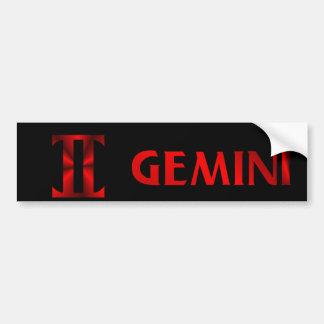 Symbole rouge d'horoscope de Gémeaux Autocollant De Voiture