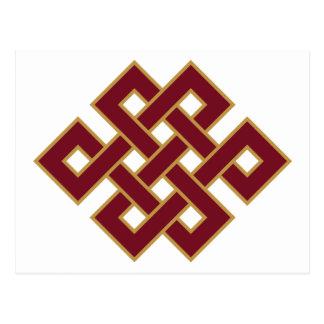 Symbole sans fin de noeud carte postale