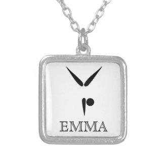 Symbole simple de gymnastique de gymnaste du collier