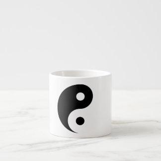 Symbole simple de Yin Yang sur gris-clair Tasse Expresso