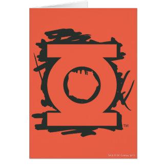 Symbole vert de marqueur de lanterne carte de vœux