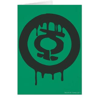 Symbole vert de peinture de lanterne carte de vœux