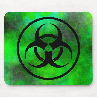 Symbole vert Mousepad de Biohazard de brouillard Tapis De Souris