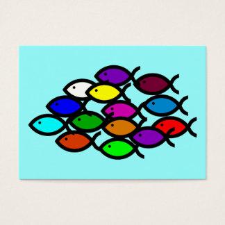 Symboles chrétiens de poissons - école cartes de visite