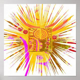 Symboles curatifs de REIKI Affiche