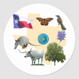 Symboles d état du Texas Autocollant Rond