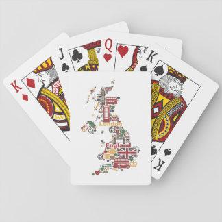 Symboles de carte de l'Angleterre Jeu De Cartes