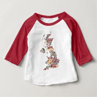 Symboles de carte de l'Angleterre T-shirt Pour Bébé