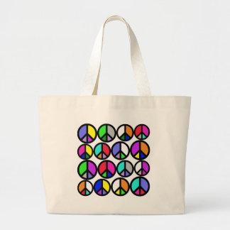 Symboles de paix multicolores sac