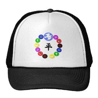 Symboles de religion du monde casquettes de camionneur