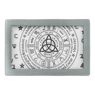 Symboles de sorcellerie boucles de ceinture rectangulaires