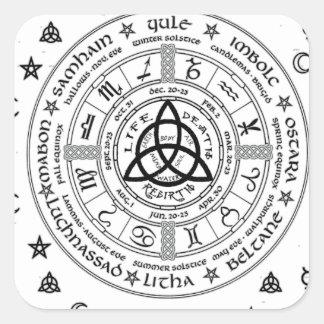 Symboles de sorcellerie sticker carré