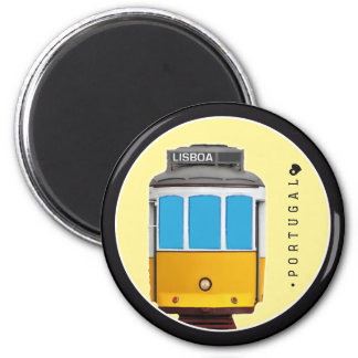 Symboles de tramway du Portugal - de Lisbonne Magnet Rond 8 Cm