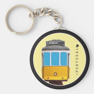Symboles de tramway du Portugal - de Lisbonne Porte-clé Rond